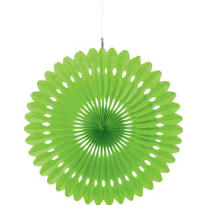 Kiwi Paper Fan Decoration 16in