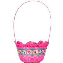 Pink Egg Shaped Easter Basket