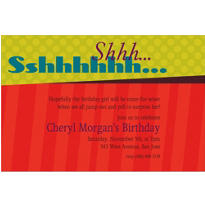 Big Sshhh Custom Invitation