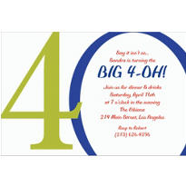 Great Big 40th Custom Invitation