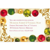 Merry Moments Custom Christmas Invitation