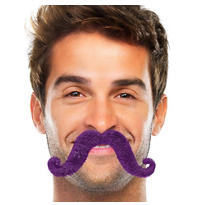 Purple Handlebar Moustache
