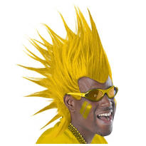 Yellow Mohawk Wig