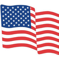 American Flag Cutout 15in