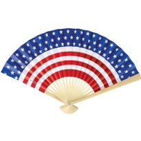 Patriotic Flag Print Paper Fan 9in