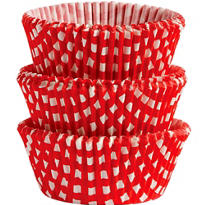 Red Gingham Baking Cups 75ct