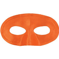 Orange Fabric Eye Mask