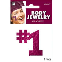 Burgundy Body Jewelry 2in x 2in