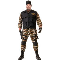 Adult SEAL Team Costume Plus Size Deluxe
