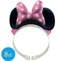 Minnie Mouse Bow Headbands 8ct