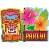 Tiki Man Invitations 20ct