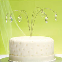 Crystal Heart Spray Cake Topper 6ct