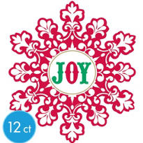 Holiday Joy Cutout 8in 12ct