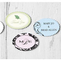 Printable Scallop Oval Favor Labels