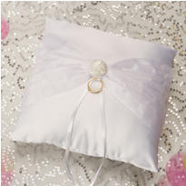 Vintage Glamour Ring Bearer Pillow