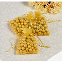 Gold Organza Wedding Favor Bags 24ct