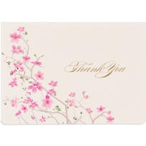 Cherry Blossom Thank You Notes 25ct