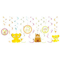 Lion King Baby Shower Swirl Decorations 12ct