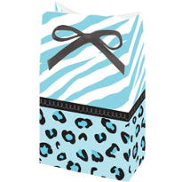 Blue Safari Baby Shower Favor Bags 12ct