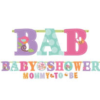 Tweet Baby Girl Baby Shower Letter Banner Combo Pack 2ct