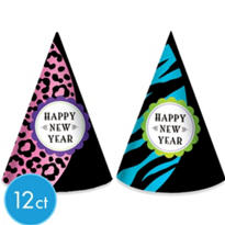 Wild New Year Party Hats 12ct <span class=messagesale><br><b>99¢ per piece!</b></br></span>