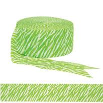 Kiwi Green Zebra Print Streamer