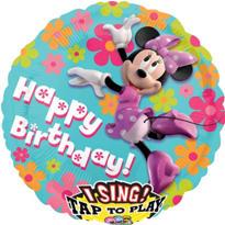 Happy Birthday Minnie Mouse Balloon - Singing