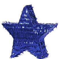 Foil Blue Star Pinata
