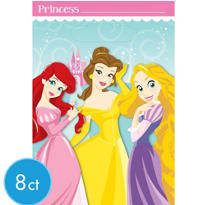 1st Birthday Disney Princess Favor Bags 8ct