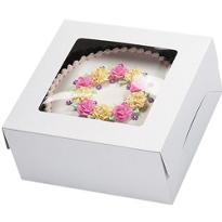 White Window Cake Box 16in x 16in