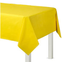 Sunshine Yellow Plastic Table Cover