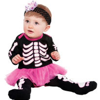 Baby Glow In The Dark Bones Tutu Dress