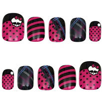 Monster High Skullette Nails