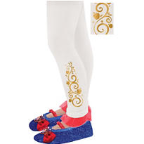 Child Footless Snow White Tights