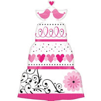Foil Sweet Wedding Cake Balloon 31in
