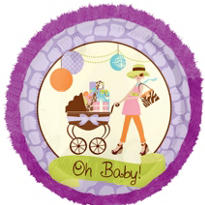 Foil Oh Baby! Modern Mommy Baby Shower Balloon 32in