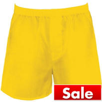 Yellow Boxer Shorts