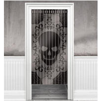 Skeleton Door Curtain 65in