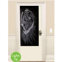 Light-Up Laughing Skeleton Curtain 72in