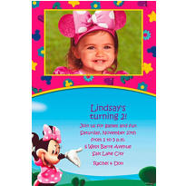 Minnie Mouse Clubhouse Custom Photo Invitation