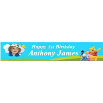 Pooh in Sunshine Custom Photo Banner 6ft