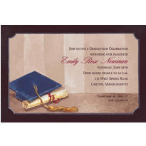 Custom Framed Cap and Diploma Graduation Invitations