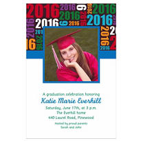 Grad Year with Photo Custom Photo Invitation