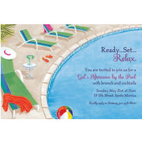 Lounging by the Pool Custom Invitation