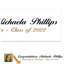 Grad Tassle with Image Custom Photo Banner 6ft