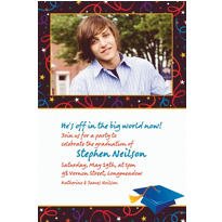 Custom Grad Celebration Photo Invitations