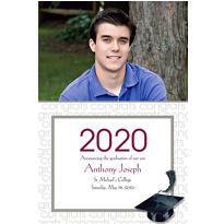 Custom White Congrats Grad Photo Announcements