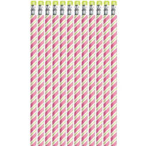 Candy Cane Stripe Christmas Pencils 12ct