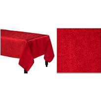 Red Damask Fabric Tablecloth 104in