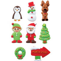 Gingerbread Icing Decorations 8ct